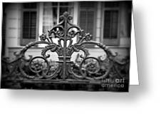 Wrought Iron Detail Greeting Card