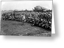 Wwii Artillery Commander Gives Pilots Greeting Card