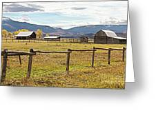 Wyoing Barns Greeting Card