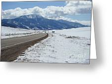 Wyoming Mountains Greeting Card