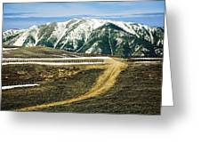 Wyoming Road Greeting Card