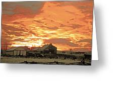 Wyoming Sunrise 1 Greeting Card