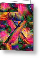 X Marks The Spot Greeting Card