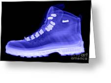 X-ray Of A Hiking Boot Greeting Card