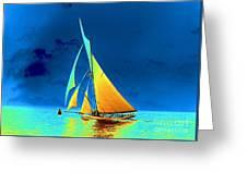 Yacht Gloriana 1891 Greeting Card