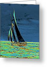 Yacht Idler Races For America's Cup 1901 Greeting Card