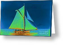 Yacht Vorant II 1892 Greeting Card