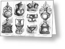 Yachting Trophies, 1871 Greeting Card