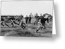 Yale: Football Practice Greeting Card