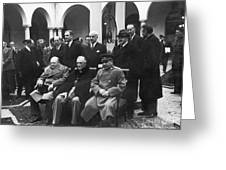 Yalta Conference, 1945 Greeting Card