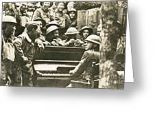 Yankee Soldiers Around A Piano Greeting Card