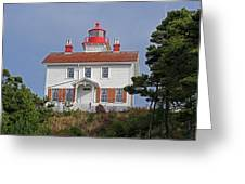 Yaquina Bay Lighthouse Greeting Card