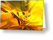 Yellow Abstract Greeting Card