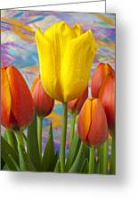 Yellow And Orange Tulips Greeting Card