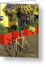 Yellow Bicycle Vancouver Canada Greeting Card
