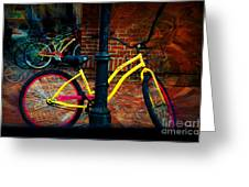 Yellow Bike Greeting Card