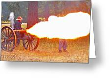 Yellow Cannon Flames  Greeting Card