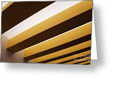 Yellow Ceiling Beams Greeting Card
