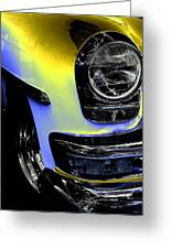 Yellow Chrysler Greeting Card