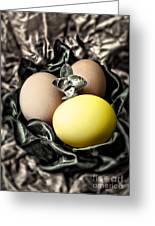 Yellow Classy Easter Egg Greeting Card