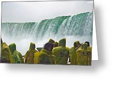 Yellow Coats Two Greeting Card