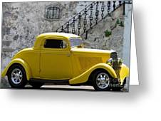 Yellow Coupe Hardtop Greeting Card