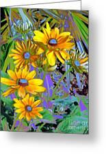 Yellow Daisies Greeting Card by Doris Wood