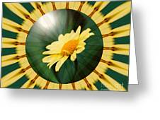 Yellow Daisy Energy Greeting Card