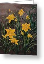 Yellow Daylilies Greeting Card