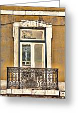 Yellow Facade And Window Greeting Card