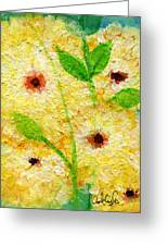 Yellow Flowers Laugh In Joy Greeting Card by Ashleigh Dyan Bayer