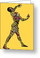 Yellow Haring Greeting Card