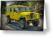 Yellow Jeep Greeting Card