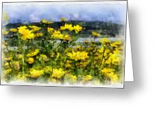 Yellow Landscape Greeting Card