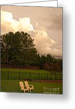 Yellow Lawn Chairs Greeting Card