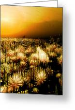 Yellow Greeting Card by Monroe Snook