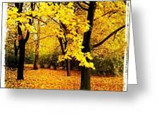 Yellow Park Greeting Card