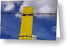 Yellow Post Greeting Card by Bernard Jaubert