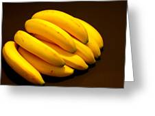 Yellow Ripe Bananas Greeting Card