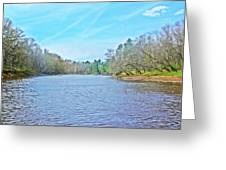 Yellow River 12 Greeting Card