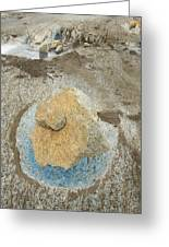 Yellow Rock And Pool  Meade Glacier Greeting Card