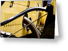 Yellow Rolls Royce Greeting Card