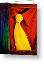 Yellow Silk Tie Greeting Card