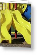 Yellow Slides Greeting Card