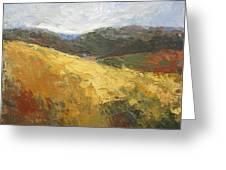 Yellow Slope II Greeting Card