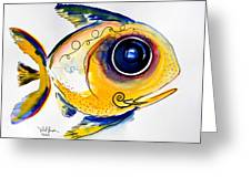 Yellow Study Fish Greeting Card