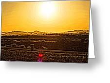 Yellow Sun Greeting Card