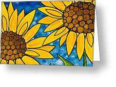 Yellow Sunflowers Greeting Card