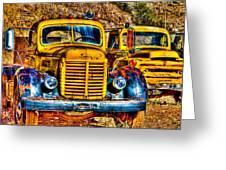 Yellow Trucks Greeting Card