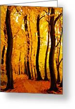 Yellow Wood Greeting Card